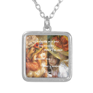 Renoir's paintings is plenty of love silver plated necklace