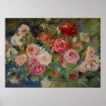 Renoir's Roses in a Vase Still Life Poster