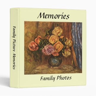 Renoir's Roses in Front of a Blue Curtain (1908) Vinyl Binder