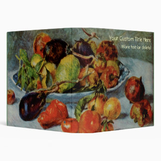 Renoir's Still Life with Mediterranean Fruit, 1911 3 Ring Binder