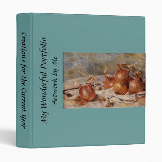 Renoir's Still Life with Onions (1881) 3 Ring Binders