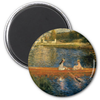 Renoir's The Seine at Asnières (The Skiff) ca 1879 2 Inch Round Magnet
