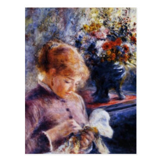 Renoir's Young Woman Sewing Postcard