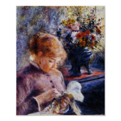 Renoir's Young Woman Sewing Print