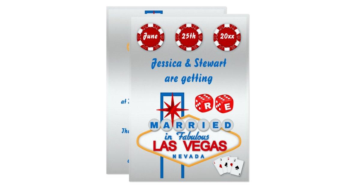 renouvellement de las vegas des voeux de mariage carton dinvitation 127 cm x 1778 cm zazzle - Renouvellement Voeux Mariage Las Vegas