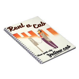 Rent a Cab! NYC Yellow cab poster Notebook