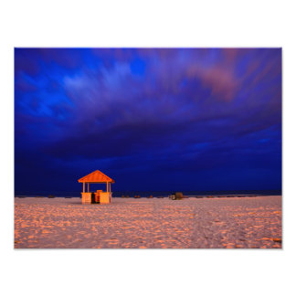 Rental Shack Just Before Dawn Photographic Print