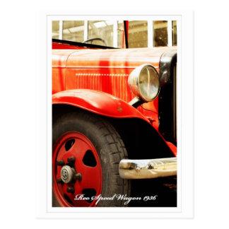 Reo Speed Wagon, Retro Fire Engine Postcard