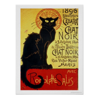 Reopening of the Chat Noir Cabaret, 1896 Poster