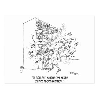 Reorganization Cartoon 1210 Postcard