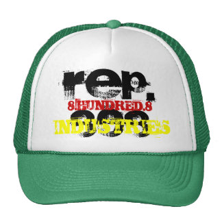 REP.808, 8.HUNDRED.8, INDUSTRIES TRUCKER HAT
