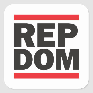 REP DOM Square Stickers