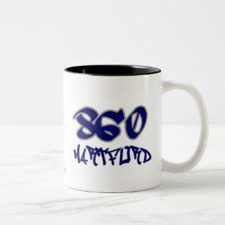 Rep Hartford (860) Two-Tone Coffee Mug