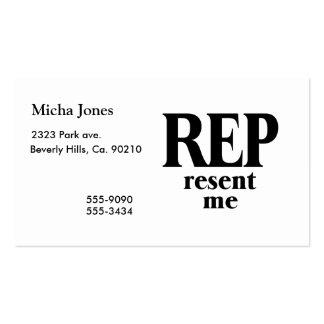 Rep Resent Me Business Card