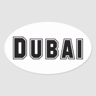 Rep Ya Hood Custom United Arab Emirates, Dubai Oval Sticker