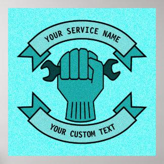 Repair Mechanic Technician Plumber Service Poster
