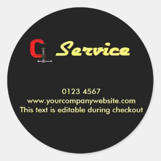 repair - service classic round sticker