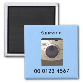 Repair - washing machine service tag square magnet