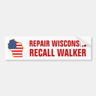 Repair Wisconsin, Recall Walker Bumper Sticker