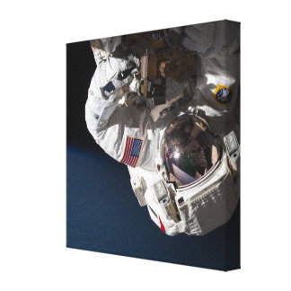 Repairing Space Station Stretched Canvas Prints