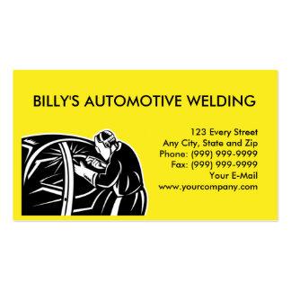 réparation d'automobile de voiture de soudure de carte de visite