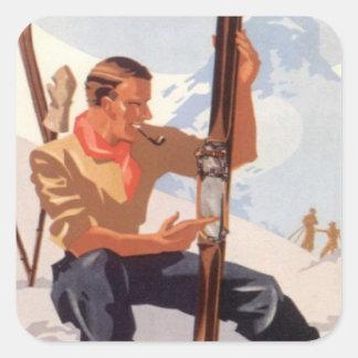Réparation des skis sticker carré