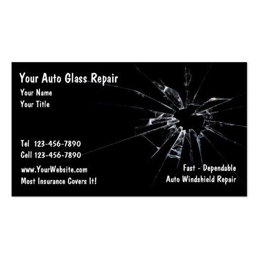 Réparation en verre automatique carte de visite