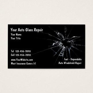 Réparation en verre automatique cartes de visite