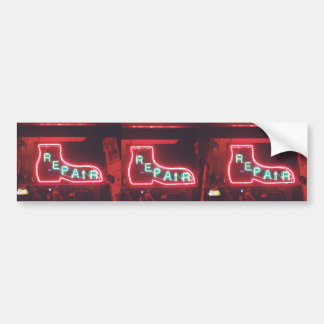 Repare Neon Sign NYC Bumper Sticker