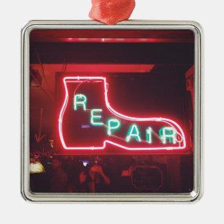 Repare Neon Sign NYC Metal Ornament