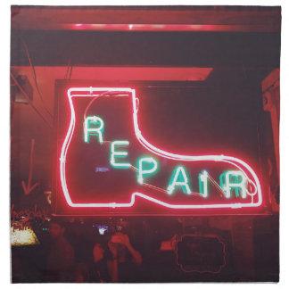 Repare Neon Sign NYC Napkin