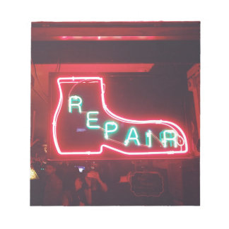 Repare Neon Sign NYC Notepad