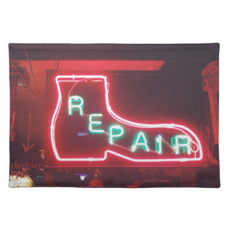 Repare Neon Sign NYC Placemat