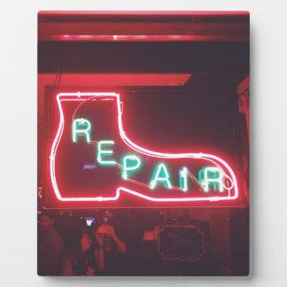 Repare Neon Sign NYC Plaque
