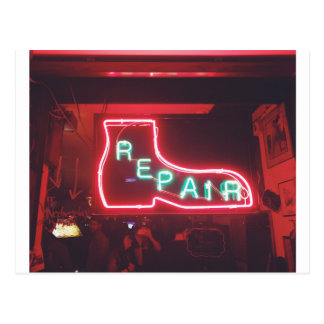 Repare Neon Sign NYC Postcard