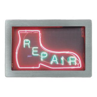 Repare Neon Sign NYC Rectangular Belt Buckle