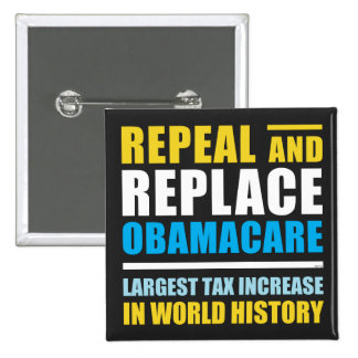 Repeal And Replace Obamacare 2 Inch Square Button