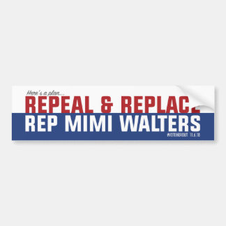 Repeal & Replace Mimi Bumper Sticker