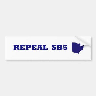 Repeal SB5 blue bumper Bumper Sticker