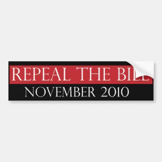 Repeal The Bill Bumpersticker Bumper Sticker