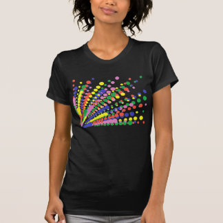 Repeat Array of Colorful Polka Dots on tshirts