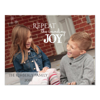 Repeat the sounding JOY - Christmas Card