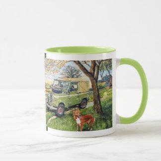 """Repeated image """"FARM"""" design Ringer Mug"""