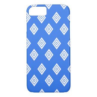 Repeating Blue Diamond iPhone Case