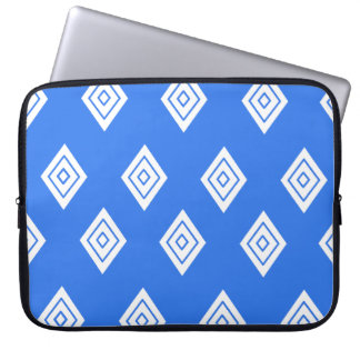 Repeating Blue Diamond Laptop Sleeve