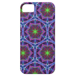 Repeating Blue flower kaleidoscope pattern iPhone 5 Cover