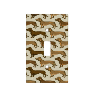 Repeating Dachshunds Light Switch Cover