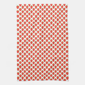 Repeating Fruit Red Strawberry Pattern Kitchen Towel