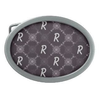 Repeating Letter Monogram Belt Buckles