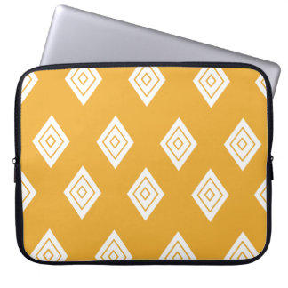 Repeating Orange Diamond Laptop Sleeve